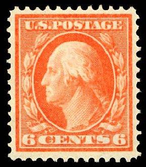 US Stamps Price Scott Cat. # 336 - 1909 6c Washington. Daniel Kelleher Auctions, Dec 2012, Sale 633, Lot 591