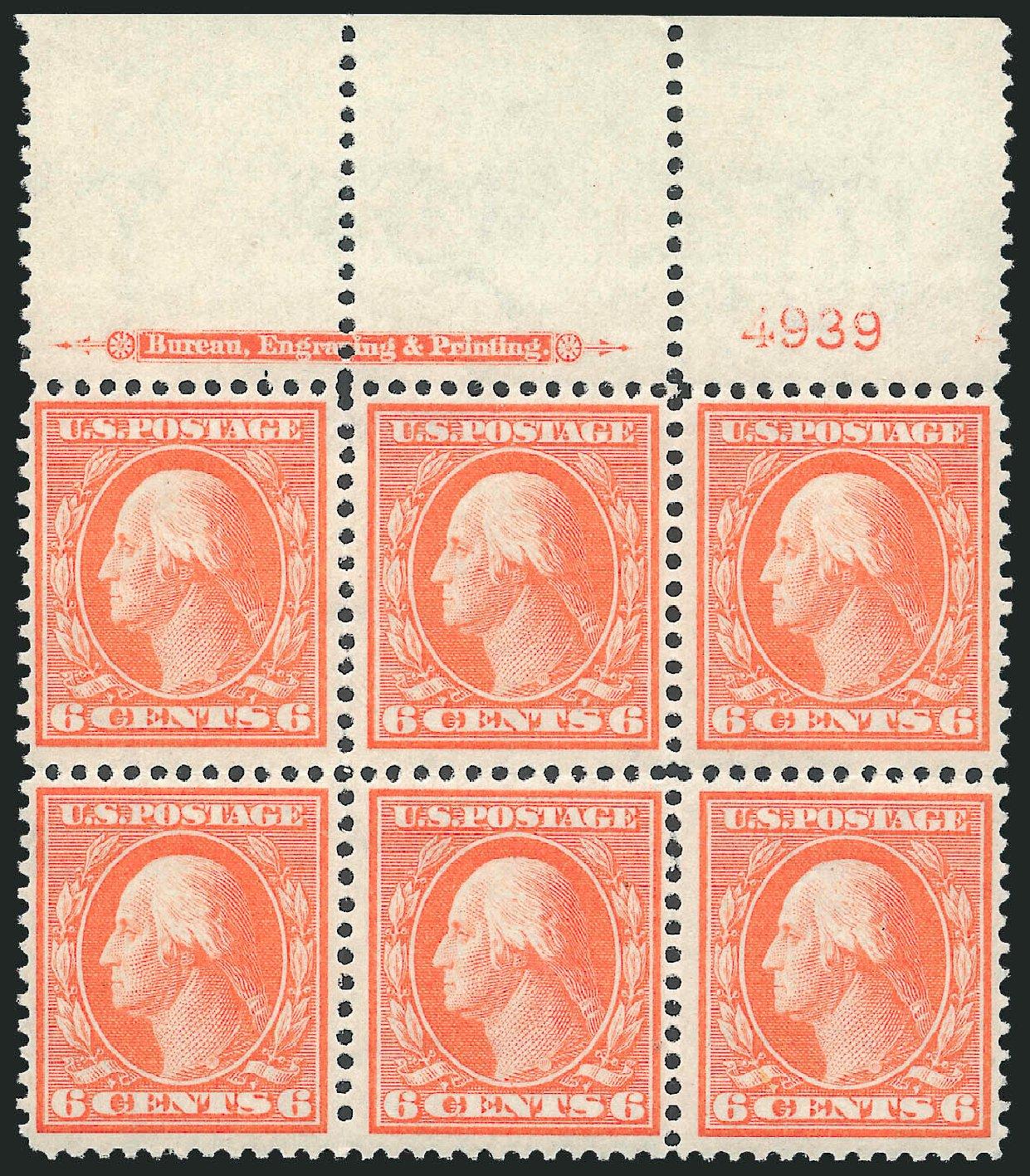 US Stamps Value Scott Catalog 336 - 1909 6c Washington. Robert Siegel Auction Galleries, Oct 2011, Sale 1014, Lot 1771