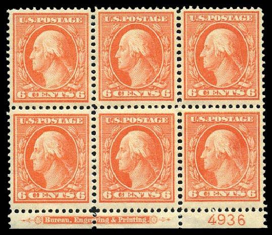Price of US Stamps Scott Catalog 336 - 6c 1909 Washington. Matthew Bennett International, Mar 2011, Sale 337, Lot 2814