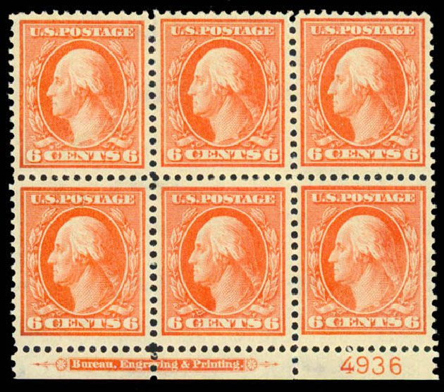 Price of US Stamps Scott Catalogue # 336 - 1909 6c Washington. Daniel Kelleher Auctions, Sep 2013, Sale 639, Lot 3444