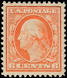 US Stamp Prices Scott #336: 1909 6c Washington. Regency-Superior, Jan 2015, Sale 109, Lot 1125