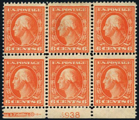 Price of US Stamp Scott #336: 1909 6c Washington. Harmer-Schau Auction Galleries, May 2013, Sale 97, Lot 372