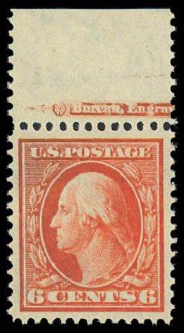 US Stamp Prices Scott Catalogue 336: 1909 6c Washington. Daniel Kelleher Auctions, Jul 2011, Sale 625, Lot 926
