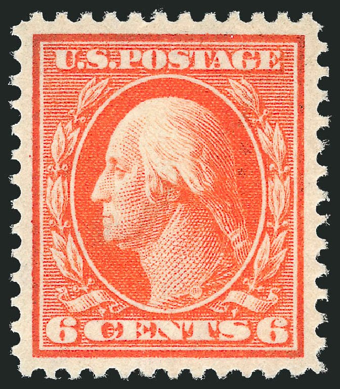 US Stamp Prices Scott #336: 6c 1909 Washington. Robert Siegel Auction Galleries, Dec 2013, Sale 1062, Lot 506