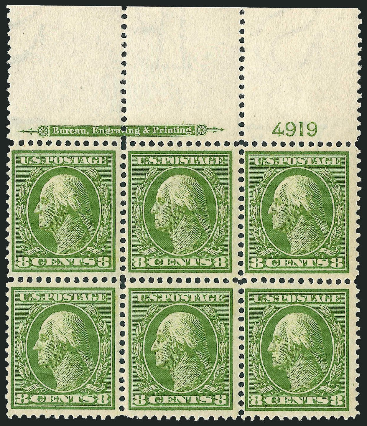 Costs of US Stamps Scott Cat. 337 - 1908 8c Washington. Robert Siegel Auction Galleries, Mar 2014, Sale 1067, Lot 1417
