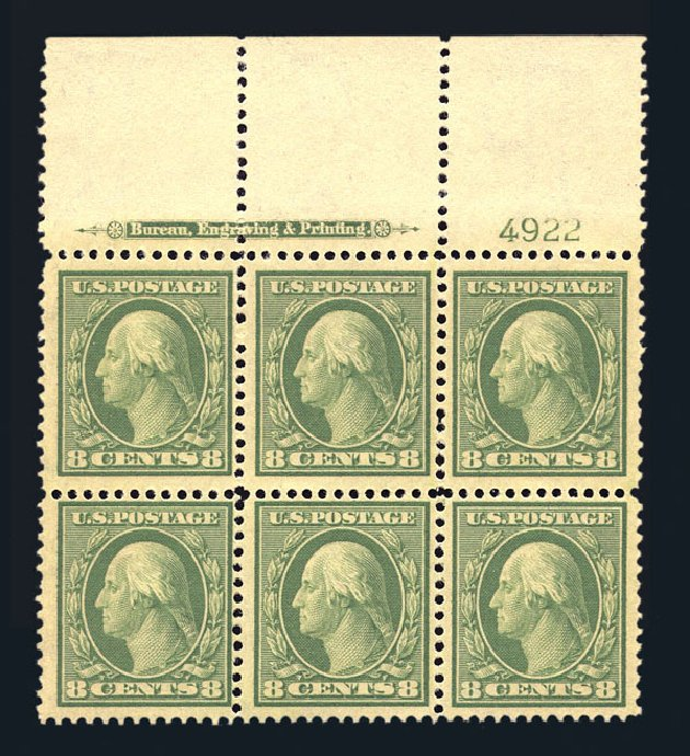 Price of US Stamp Scott Cat. #337: 1908 8c Washington. Harmer-Schau Auction Galleries, Aug 2015, Sale 106, Lot 1760