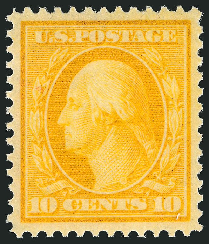 Value of US Stamp Scott #338 - 1909 10c Washington. Robert Siegel Auction Galleries, Dec 2013, Sale 1062, Lot 508