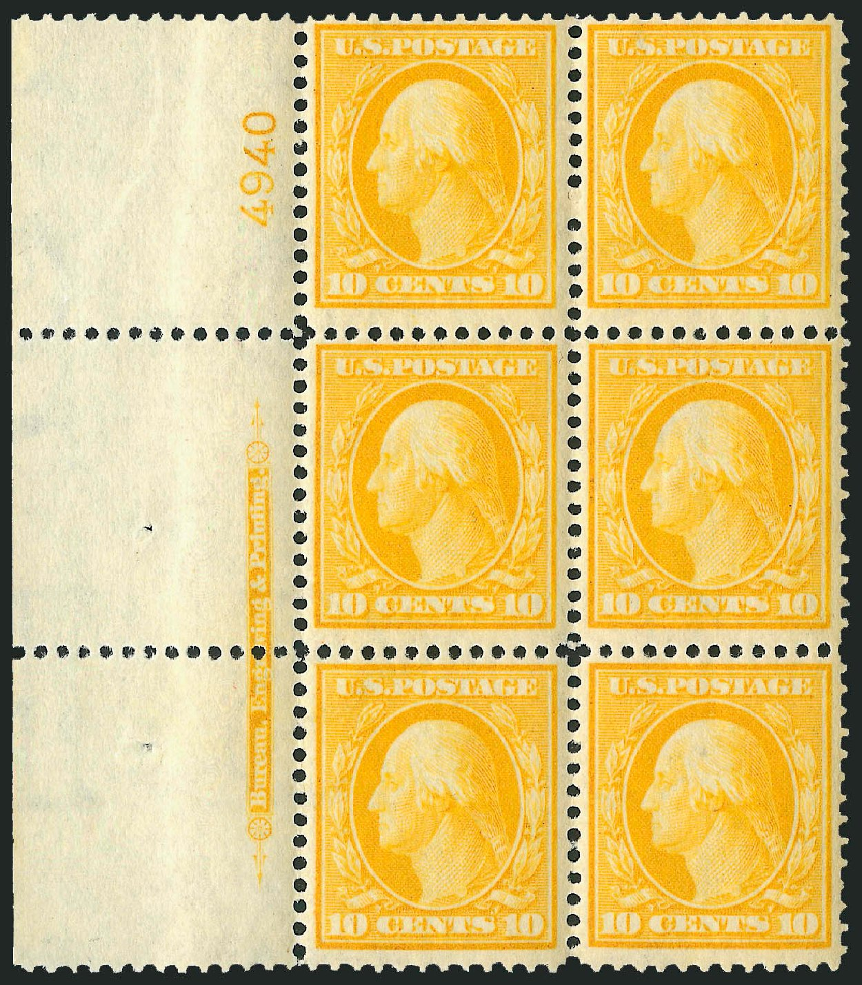Costs of US Stamps Scott 338 - 1909 10c Washington. Robert Siegel Auction Galleries, Mar 2014, Sale 1067, Lot 1418
