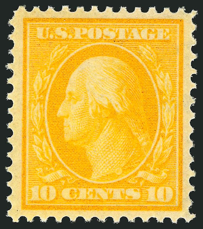Costs of US Stamps Scott Catalogue 338: 10c 1909 Washington. Robert Siegel Auction Galleries, Feb 2015, Sale 1093, Lot 88