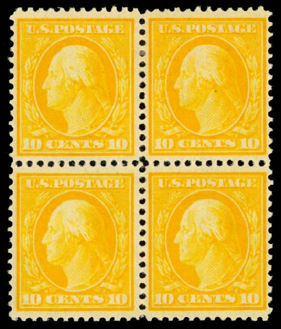 Prices of US Stamps Scott 338: 10c 1909 Washington. Daniel Kelleher Auctions, Oct 2014, Sale 660, Lot 2339