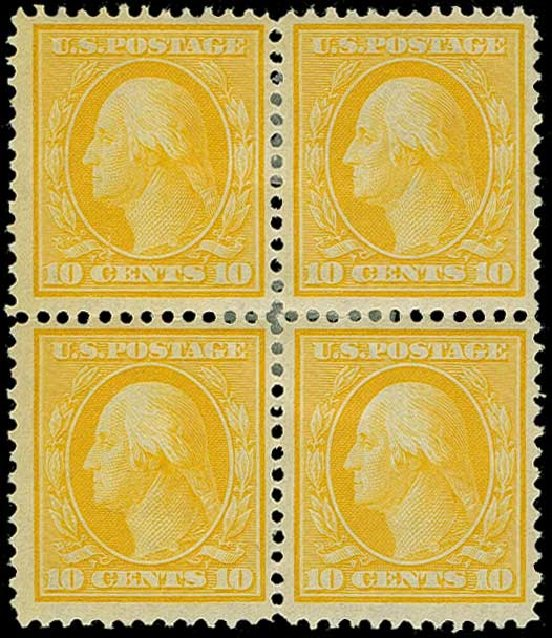 US Stamp Prices Scott Catalog 338 - 1909 10c Washington. H.R. Harmer, Jun 2015, Sale 3007, Lot 3310