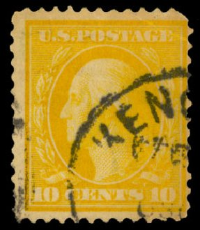 Value of US Stamps Scott Cat. 338 - 10c 1909 Washington. Daniel Kelleher Auctions, May 2014, Sale 652, Lot 501