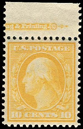 Value of US Stamps Scott Catalog 338: 1909 10c Washington. Regency-Superior, Aug 2015, Sale 112, Lot 715