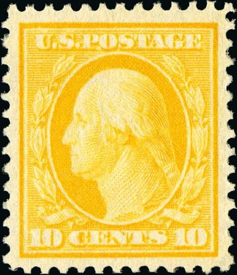 Prices of US Stamp Scott Catalog 338: 10c 1909 Washington. Spink Shreves Galleries, Jan 2015, Sale 150, Lot 145
