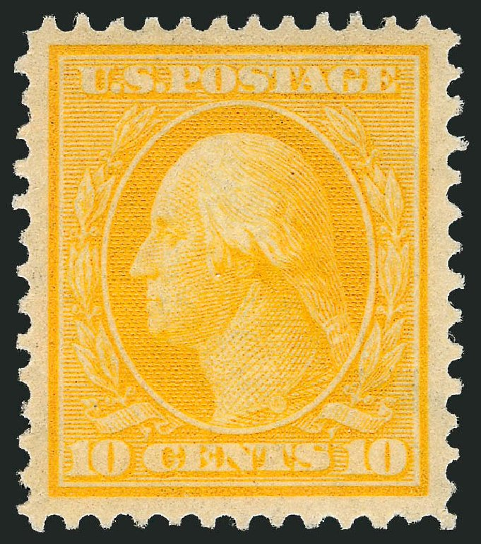 US Stamps Values Scott Cat. 338: 10c 1909 Washington. Robert Siegel Auction Galleries, Dec 2014, Sale 1090, Lot 1452