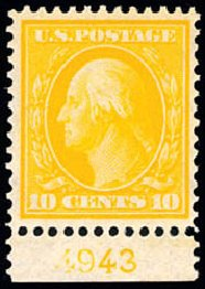US Stamp Price Scott Catalog #338: 10c 1909 Washington. Schuyler J. Rumsey Philatelic Auctions, Apr 2015, Sale 60, Lot 2793