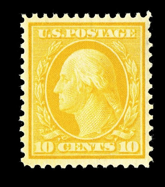 Cost of US Stamp Scott #338: 1909 10c Washington. Spink Shreves Galleries, May 2014, Sale 148, Lot 263