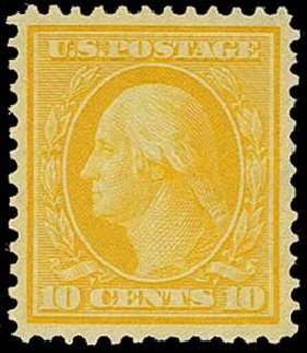 Price of US Stamp Scott Cat. # 338 - 1909 10c Washington. H.R. Harmer, Oct 2014, Sale 3006, Lot 1326