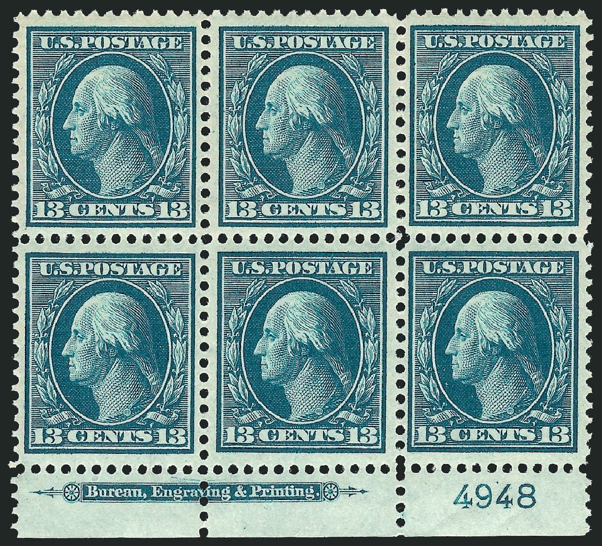 US Stamp Prices Scott Catalog #339 - 13c 1909 Washington. Robert Siegel Auction Galleries, Mar 2014, Sale 1067, Lot 1419