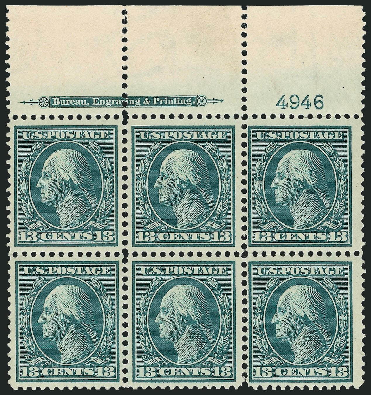 US Stamps Prices Scott Cat. #339: 13c 1909 Washington. Robert Siegel Auction Galleries, Feb 2015, Sale 1093, Lot 90