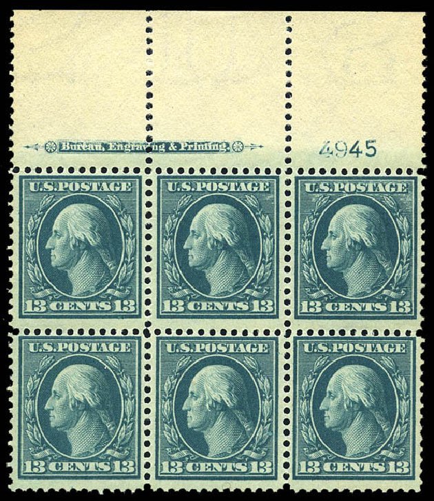 US Stamp Price Scott 339 - 1909 13c Washington. Matthew Bennett International, May 2014, Sale 350, Lot 481