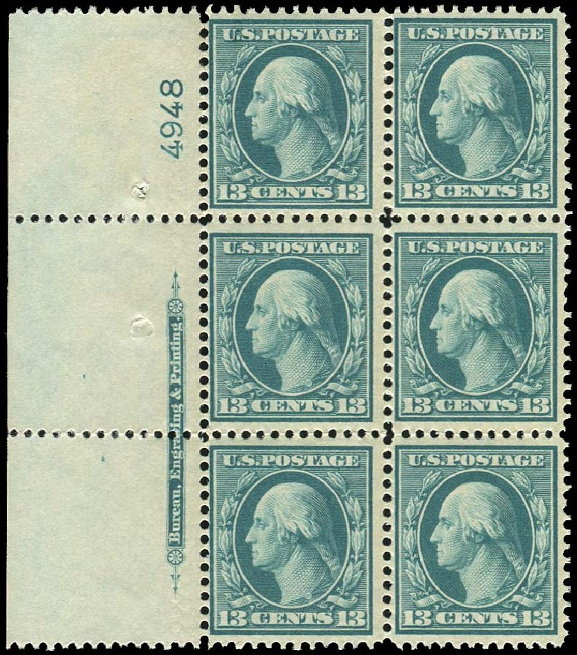 Prices of US Stamp Scott Catalogue # 339 - 13c 1909 Washington. Regency-Superior, Aug 2015, Sale 112, Lot 1325