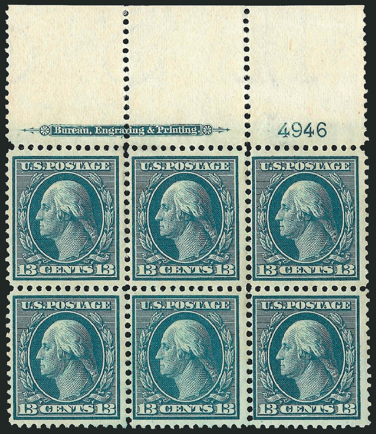 US Stamp Prices Scott Catalogue # 339: 13c 1909 Washington. Robert Siegel Auction Galleries, Sep 2014, Sale 1078, Lot 475