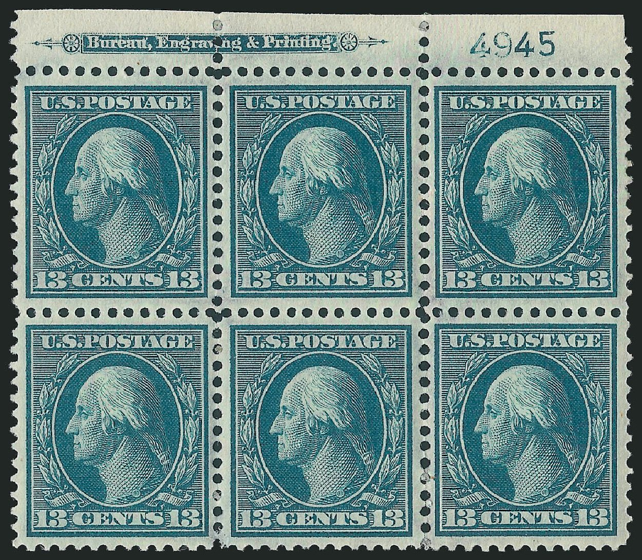 Price of US Stamps Scott Cat. # 339: 13c 1909 Washington. Robert Siegel Auction Galleries, Feb 2015, Sale 1093, Lot 92