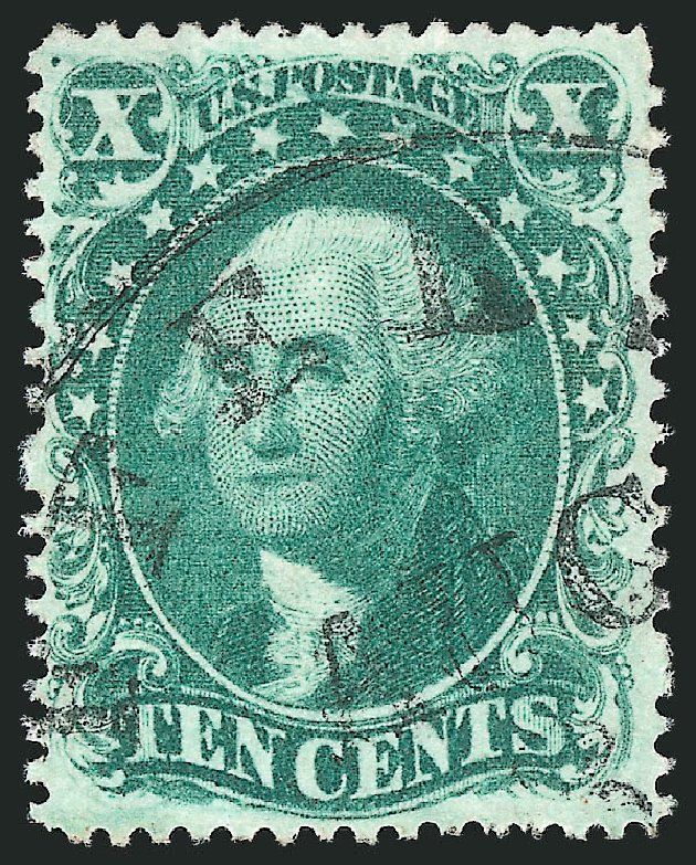Value of US Stamps Scott Catalogue # 34: 1857 10c Washington. Robert Siegel Auction Galleries, Apr 2015, Sale 1096, Lot 78