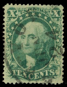 Cost of US Stamps Scott 34 - 10c 1857 Washington. Daniel Kelleher Auctions, Jan 2015, Sale 663, Lot 1264