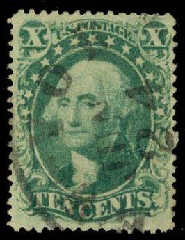 Cost of US Stamps Scott 34 - 10c 1857 Washington. Daniel Kelleher Auctions, Jan 2015, Sale 663, Lot 1264