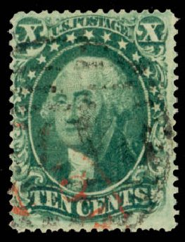 Price of US Stamps Scott Catalogue # 34 - 1857 10c Washington. Daniel Kelleher Auctions, May 2015, Sale 669, Lot 2464