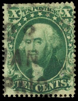 Cost of US Stamp Scott Catalog # 34: 10c 1857 Washington. Daniel Kelleher Auctions, Aug 2015, Sale 672, Lot 2214