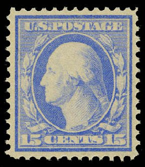 Prices of US Stamps Scott Catalog # 340 - 15c 1909 Washington. Daniel Kelleher Auctions, May 2015, Sale 669, Lot 2887