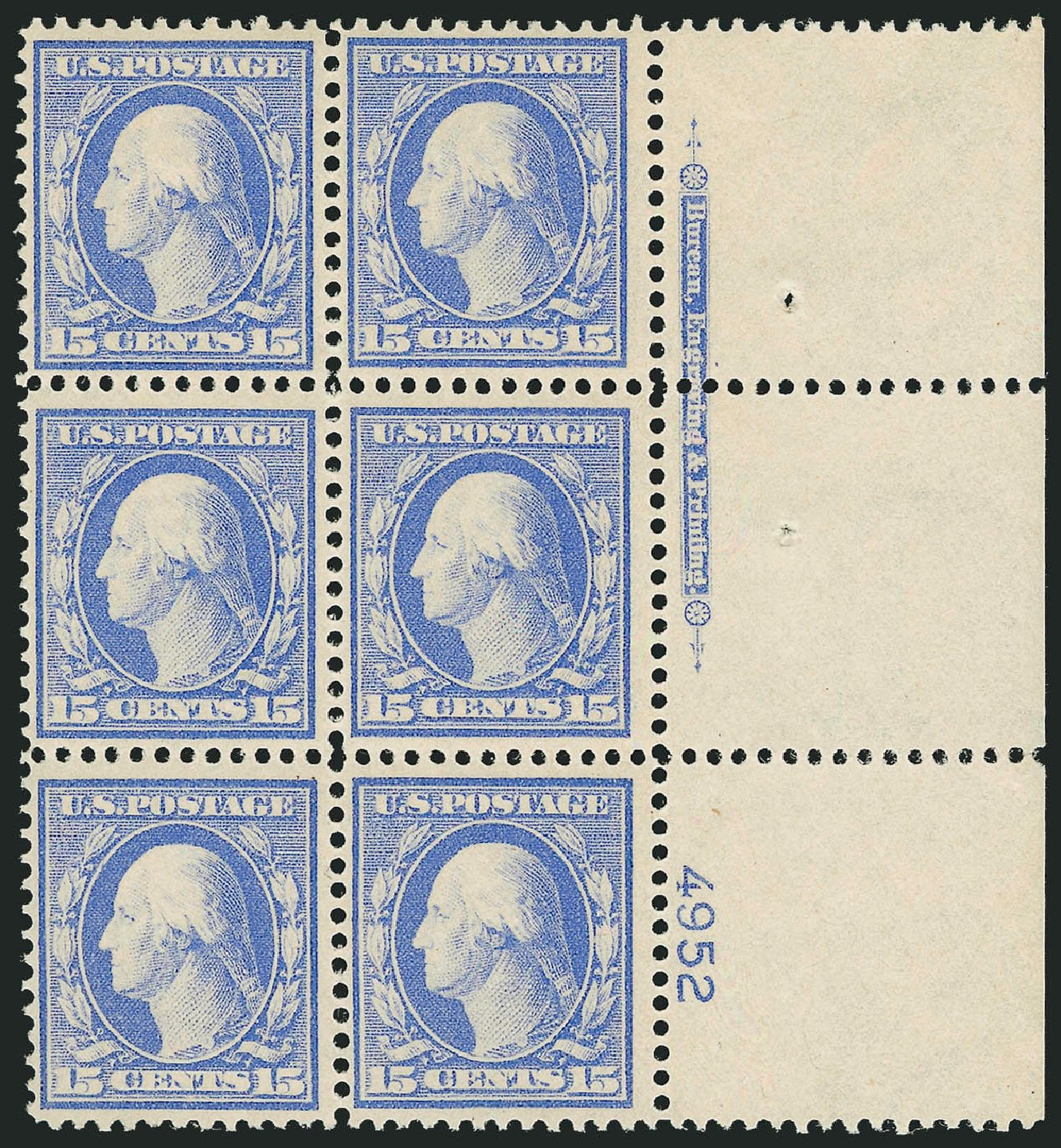 Costs of US Stamp Scott Catalog # 340: 15c 1909 Washington. Robert Siegel Auction Galleries, Mar 2014, Sale 1067, Lot 1420