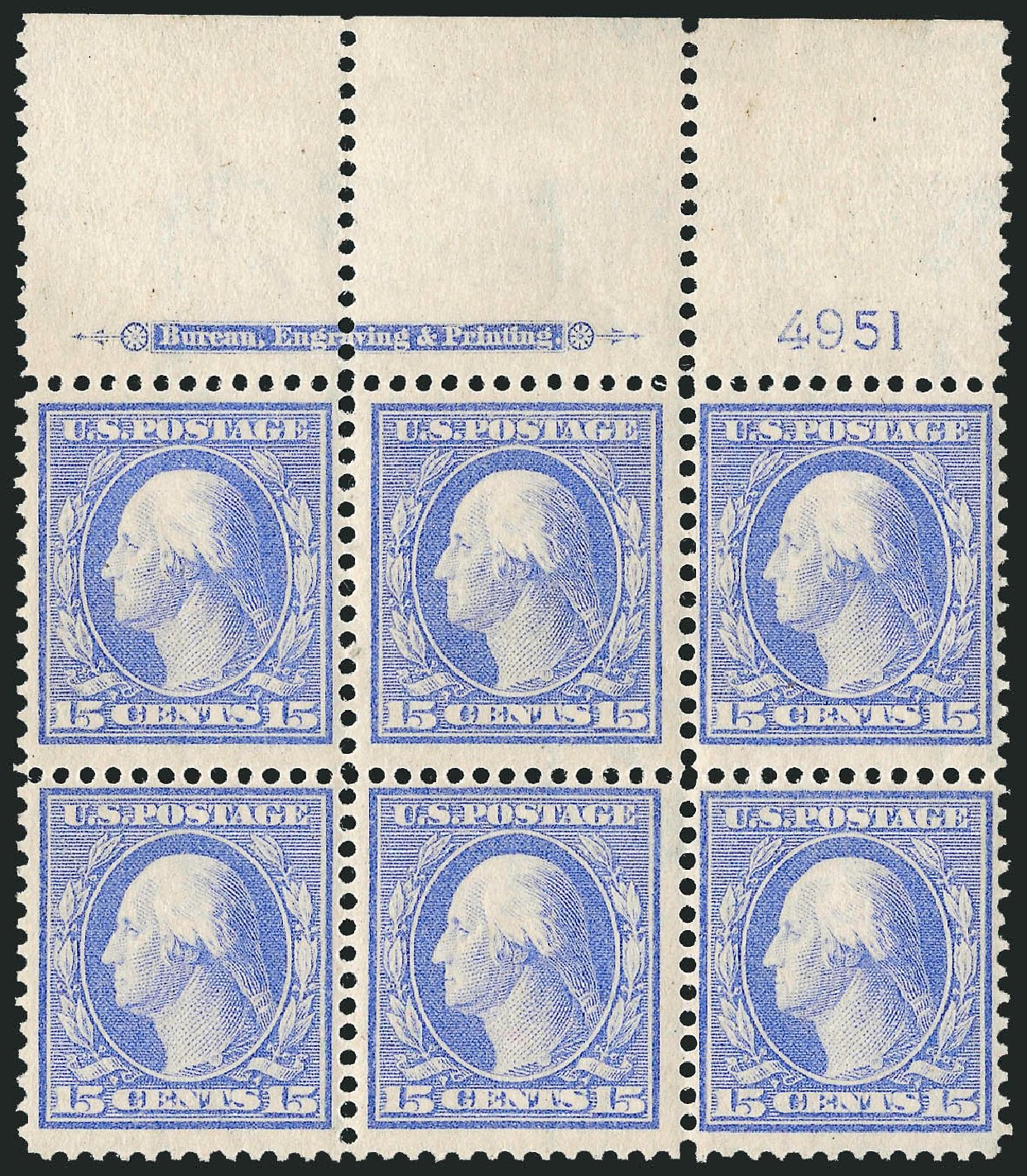Prices of US Stamp Scott Cat. # 340: 1909 15c Washington. Robert Siegel Auction Galleries, Mar 2014, Sale 1067, Lot 1421