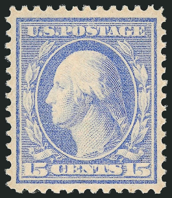 Value of US Stamp Scott Cat. 340: 1909 15c Washington. Robert Siegel Auction Galleries, Dec 2014, Sale 1090, Lot 1454