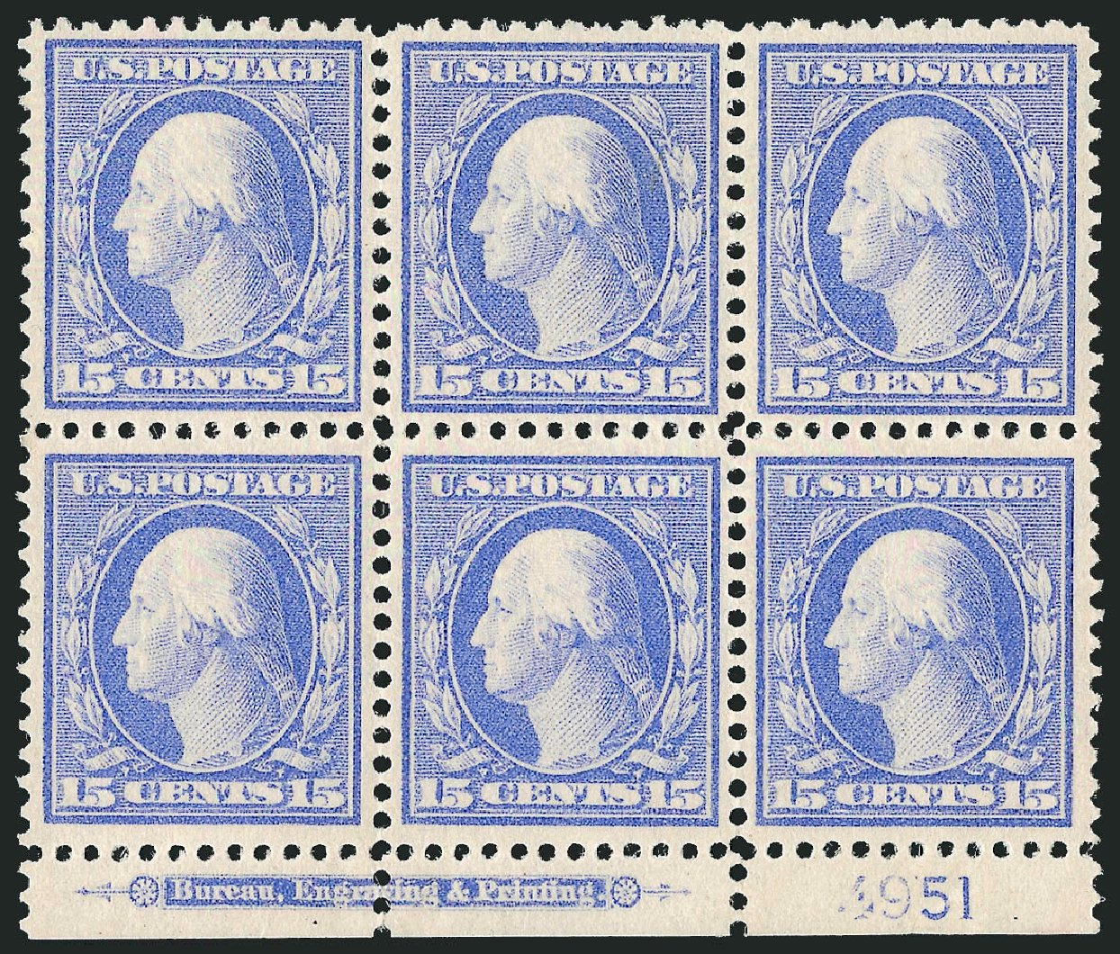 Cost of US Stamp Scott Catalog # 340 - 1909 15c Washington. Robert Siegel Auction Galleries, Feb 2015, Sale 1093, Lot 94