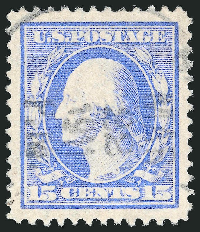 US Stamp Value Scott Catalog # 340: 15c 1909 Washington. Robert Siegel Auction Galleries, Dec 2014, Sale 1090, Lot 1455