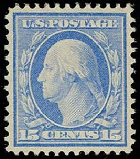 Prices of US Stamps Scott Cat. #340 - 1909 15c Washington. H.R. Harmer, Jun 2013, Sale 3003, Lot 1242
