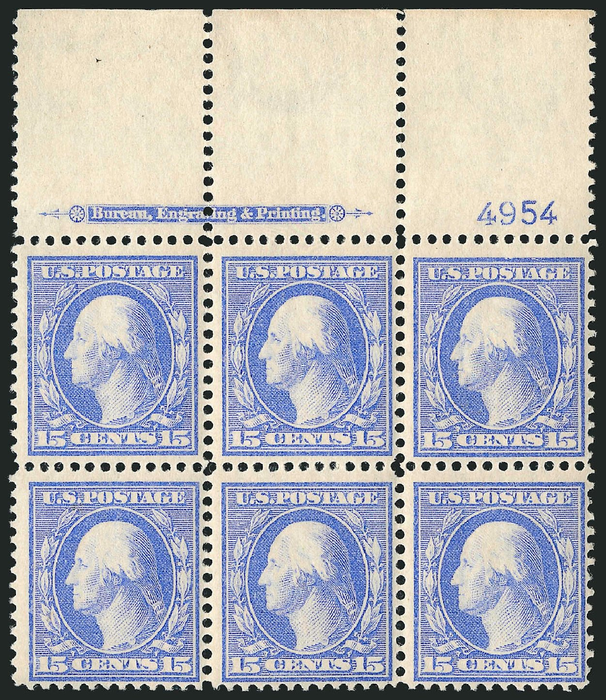 Cost of US Stamp Scott Catalogue 340 - 1909 15c Washington. Robert Siegel Auction Galleries, Apr 2015, Sale 1096, Lot 572