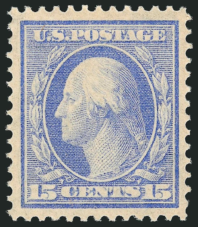 US Stamps Values Scott Cat. 340: 15c 1909 Washington. Robert Siegel Auction Galleries, Feb 2015, Sale 1093, Lot 93