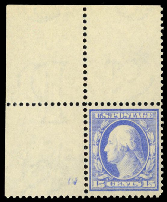 Cost of US Stamps Scott Catalogue 340: 15c 1909 Washington. Daniel Kelleher Auctions, Dec 2014, Sale 661, Lot 296