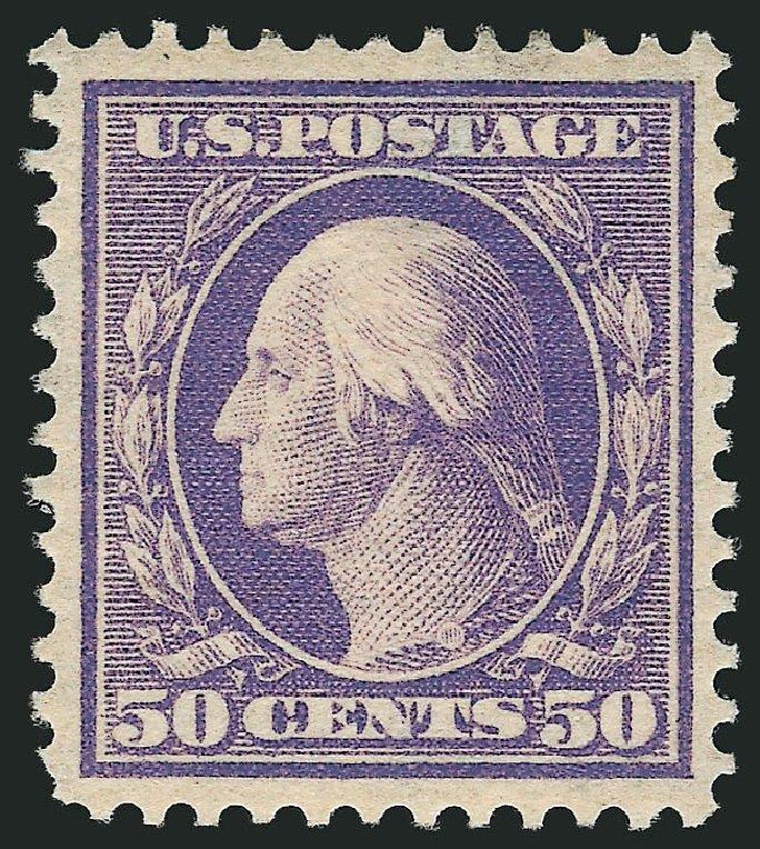 Values of US Stamps Scott Cat. # 341 - 50c 1909 Washington. Robert Siegel Auction Galleries, Sep 2014, Sale 1078, Lot 477