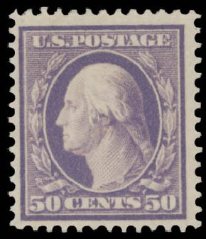 Price of US Stamp Scott Catalog #341: 50c 1909 Washington. Daniel Kelleher Auctions, Aug 2015, Sale 672, Lot 2649