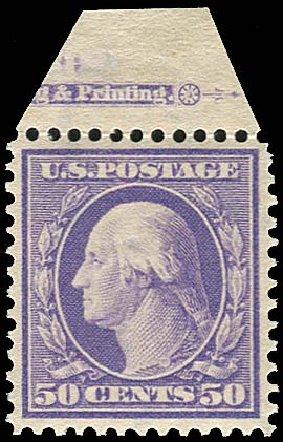 Cost of US Stamps Scott Catalog 341: 50c 1909 Washington. Regency-Superior, Jan 2015, Sale 109, Lot 1129