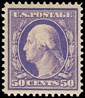 Values of US Stamps Scott Cat. # 341 - 50c 1909 Washington. Regency-Superior, Aug 2015, Sale 112, Lot 719