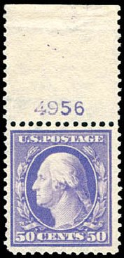 Costs of US Stamps Scott Cat. 341 - 50c 1909 Washington. Schuyler J. Rumsey Philatelic Auctions, Apr 2015, Sale 60, Lot 2794