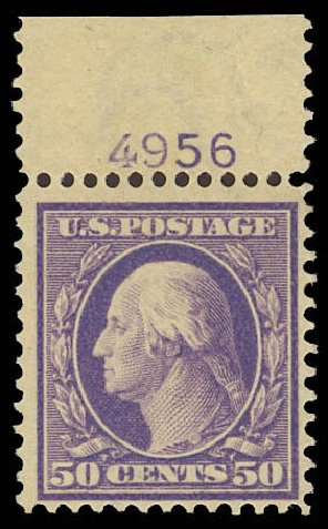 Value of US Stamps Scott Cat. #341: 1909 50c Washington. Daniel Kelleher Auctions, May 2014, Sale 652, Lot 505