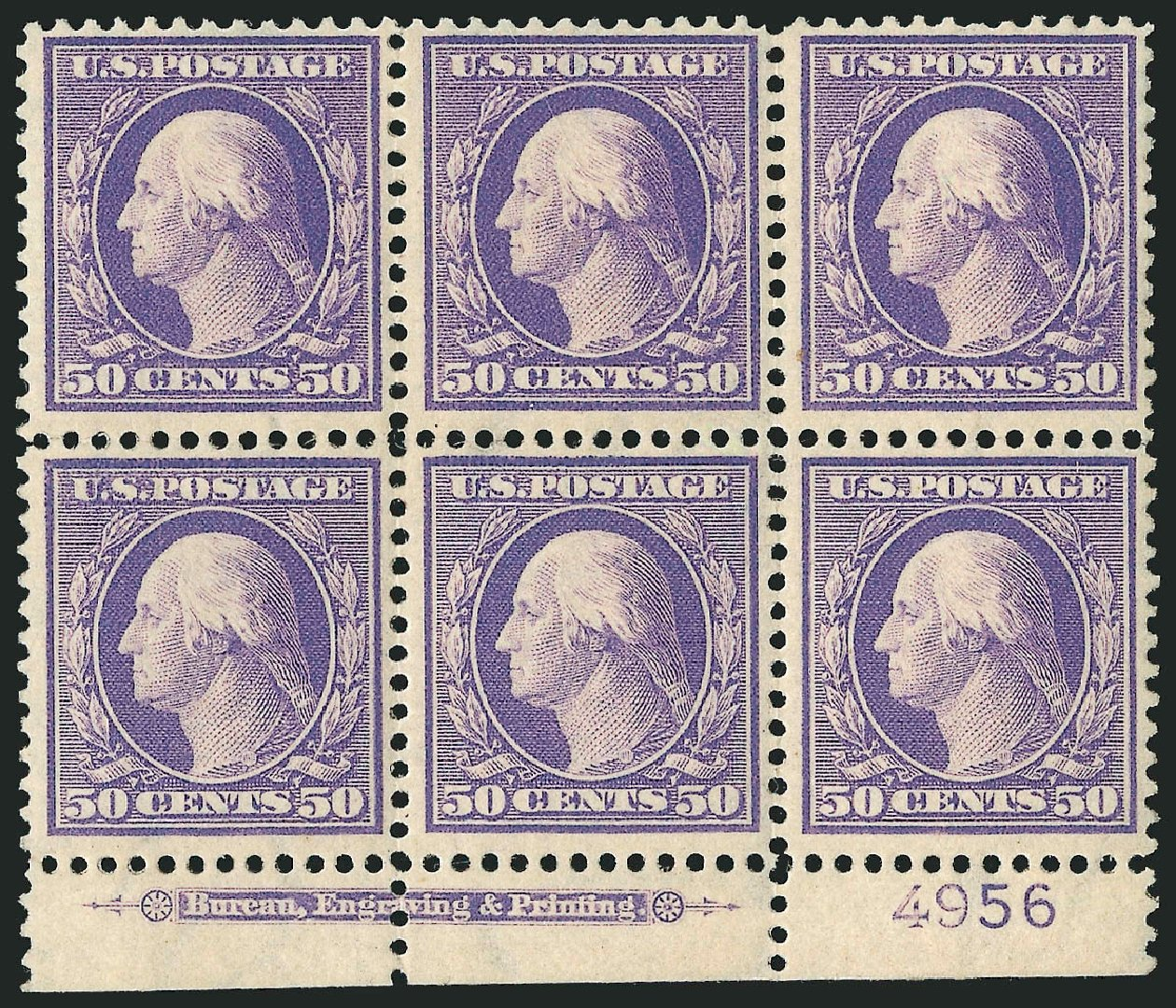 Costs of US Stamps Scott Cat. # 341 - 50c 1909 Washington. Robert Siegel Auction Galleries, Apr 2015, Sale 1096, Lot 575
